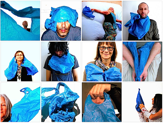 BLUE BAGS ::::::::::: UNSTABLE SOCIAL SCULPTURE