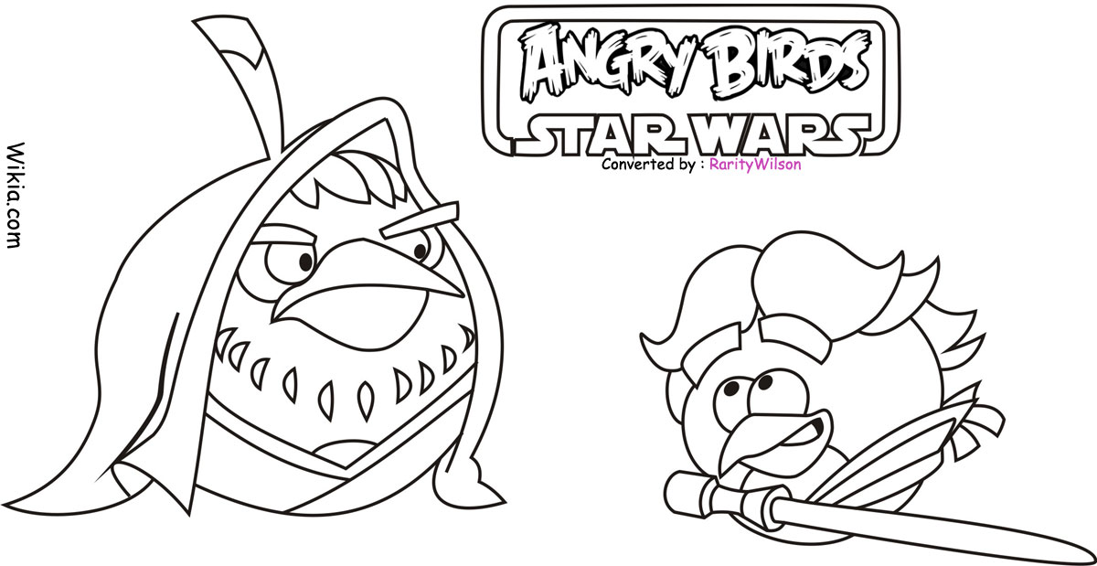 angry birds wars coloring pages team colors