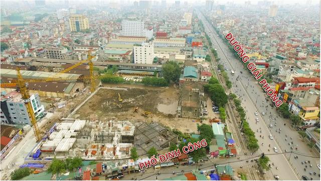 Hình ảnh nhìn từ trên cao chung cư Imperial Plaza