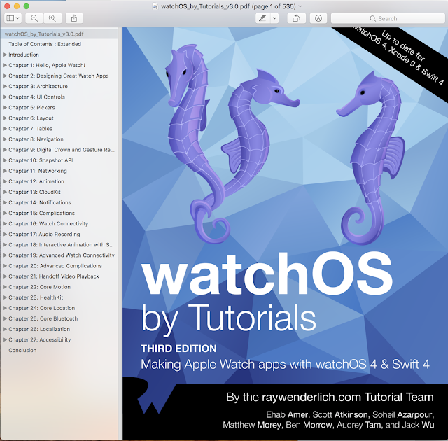 WatchOs By Tutorials Third Edition Update for Swift 4