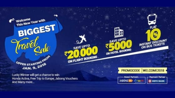 EaseMyTrip Travel Sale 2018