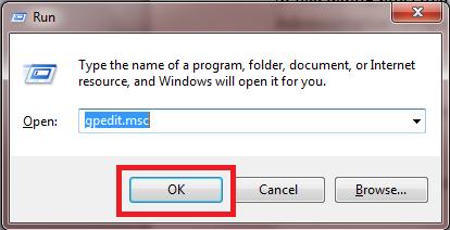 Ketikkan gpedit.msc. Kemudian klik Ok atau Enter.