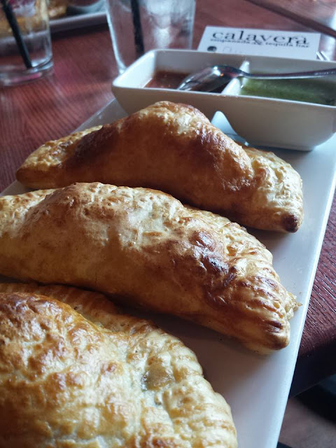 Empanadas at Calavera Empanada and Tequila Bar in Raleigh, N,C.