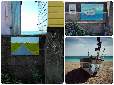Post To The Coast artwork along Lancing's Beach Green