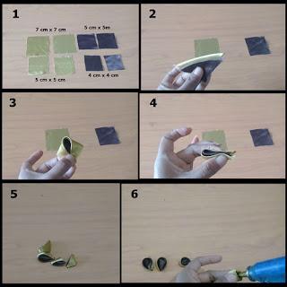 Gambar tutorial cara membuat kanzashi kupu-kupu sederhana 1