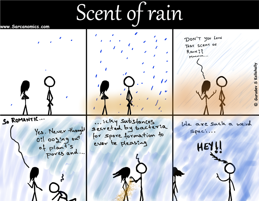 Cause of Scent of rain, Sarcanomics, comics, webcomics