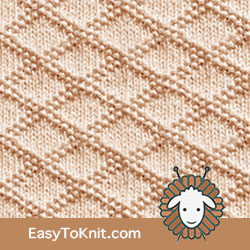 #KnitPurl King Charles Brocade stitch. EASY TO KNIT. Great pattern!! FREE  #easytoknit #knitting