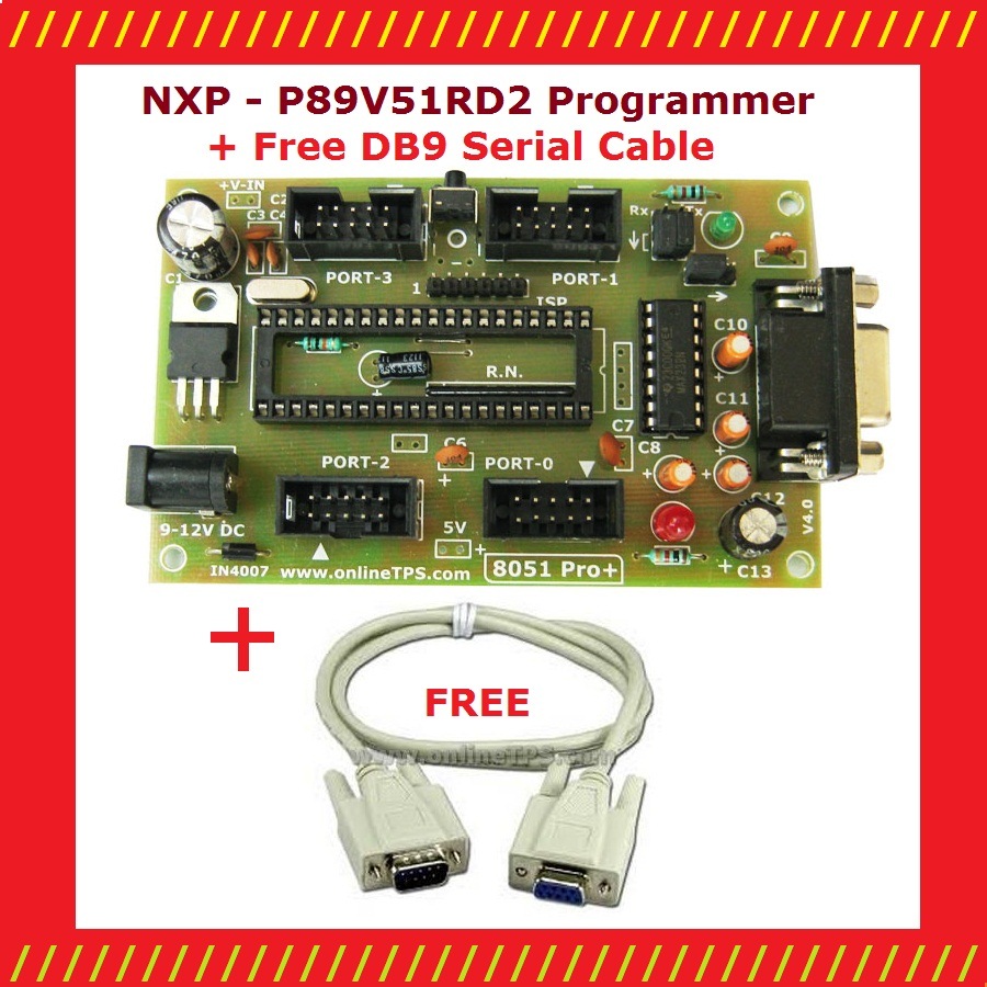 Tested Ok Projects: Serial Port (COM1) NXP - P89V51RD2