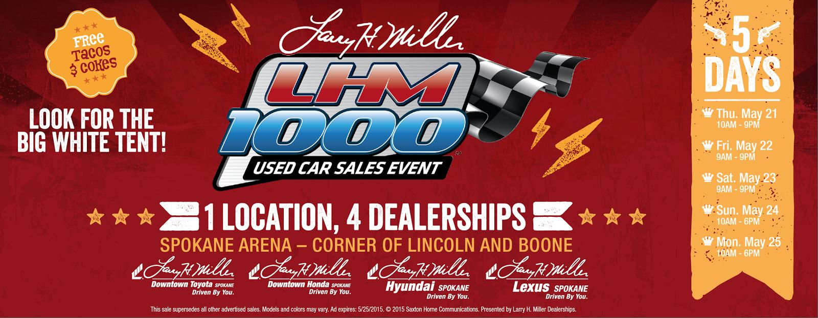 Lhm Hyundai Spokane >> LHM 1000 Used Car Sales Event | Larry H. Miller Hyundai Spokane | Larry H. Miller Hyundai Spokane