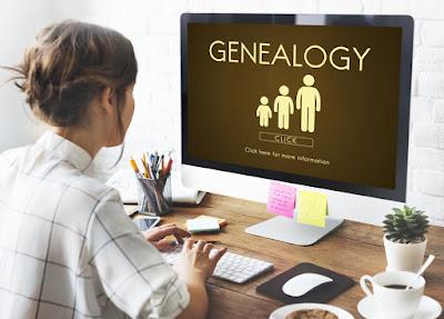 Chica investigando sobre su origen genealógico