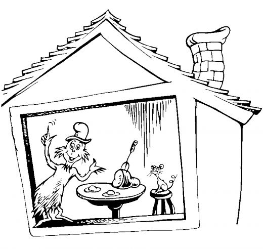 Fun Coloring Pages: Cat in the Hat Coloring Pages (Dr Seuss)