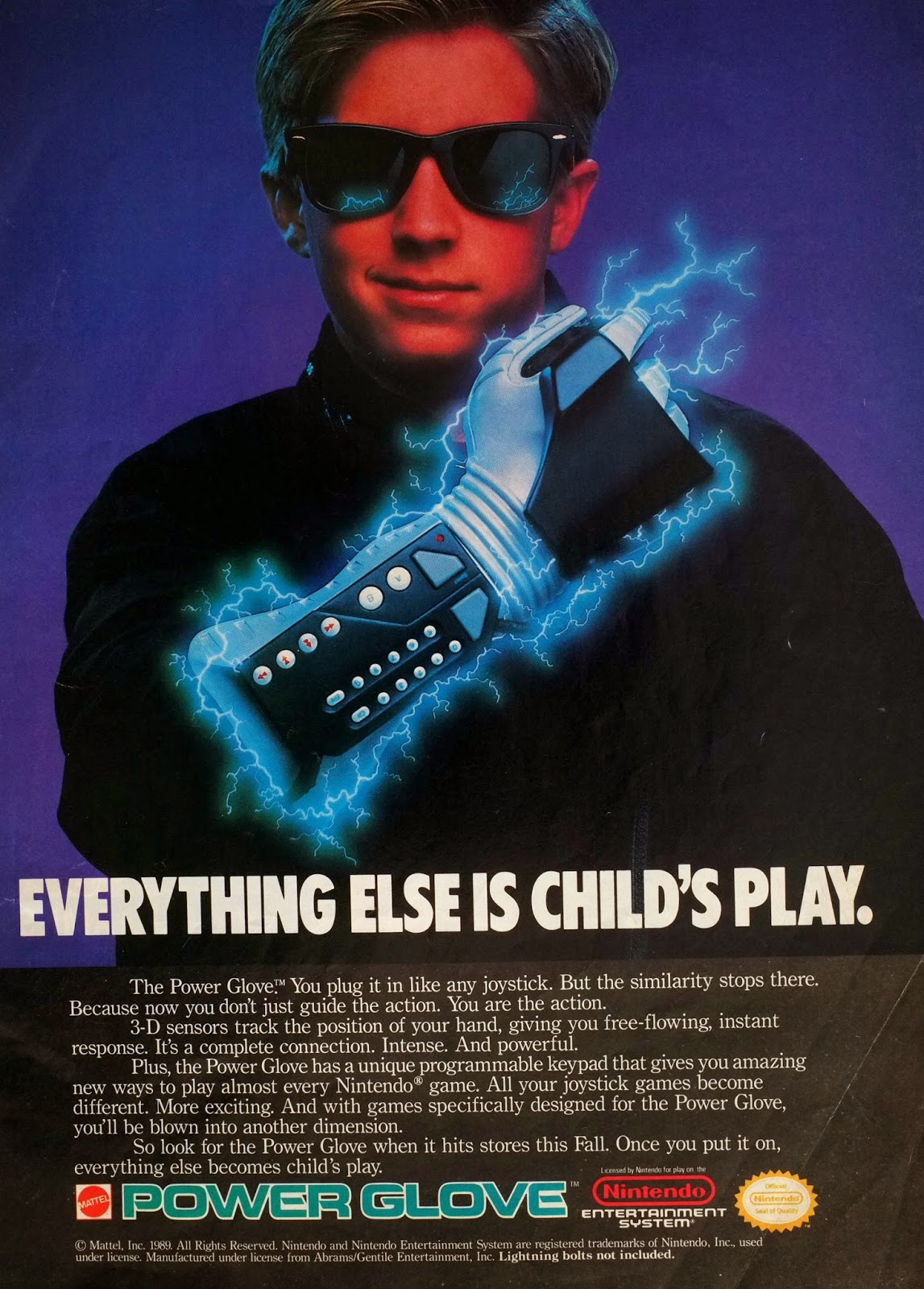 Nintendo Power Glove advertisement