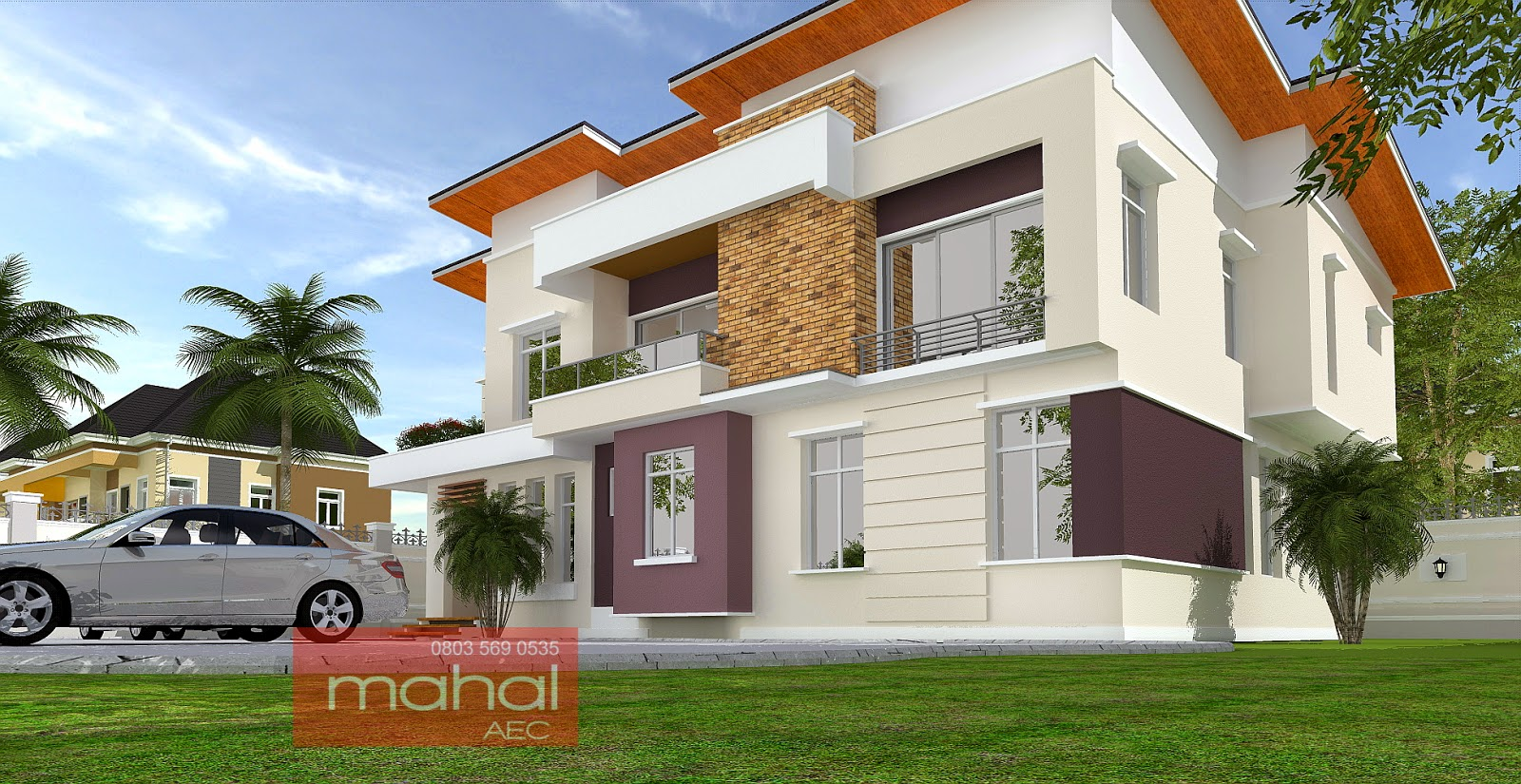 Contemporary nigerian residential architecture for Modern duplex house plans in nigeria