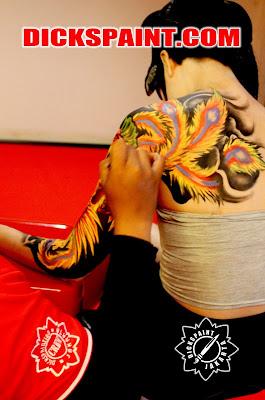 Body Painting Phoenix Indonesia Jakarta