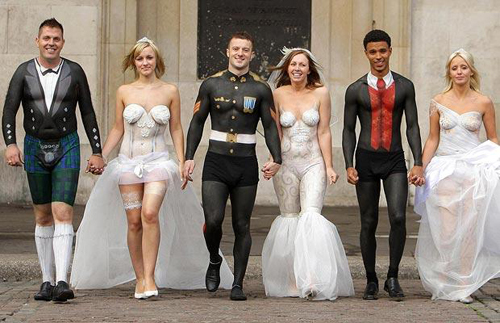 body painting wedding