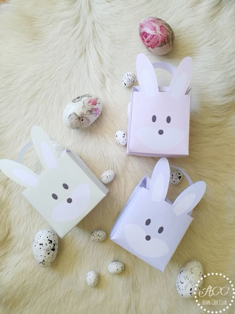 DIY printable easter bunny box