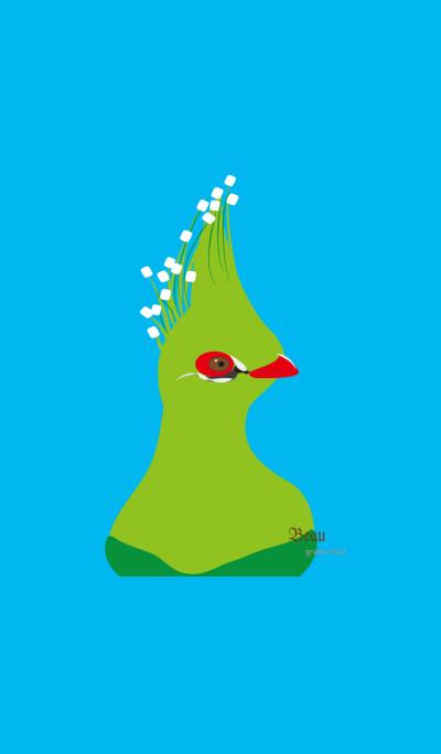 beau green bird