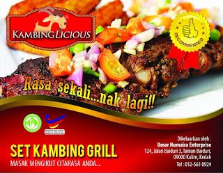 kambinglicious set kambing grill