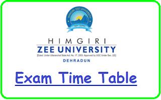 HZU Date Sheet 2020