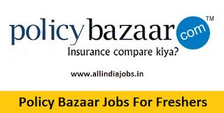 Policy Bazaar Jobs