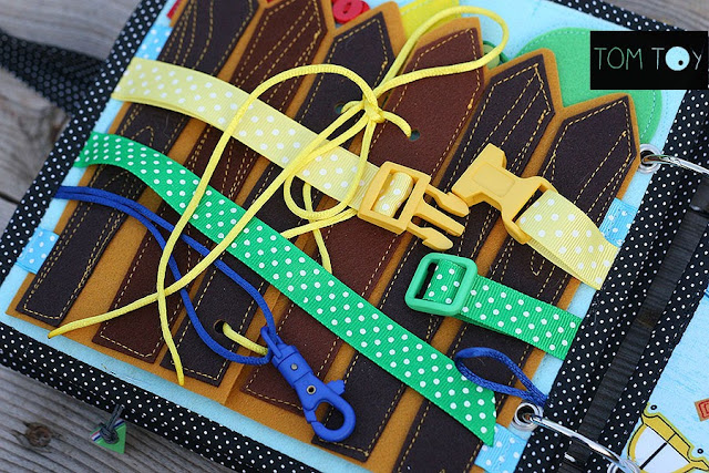 Quiet book for Kenison Handmade busy book by TomToy