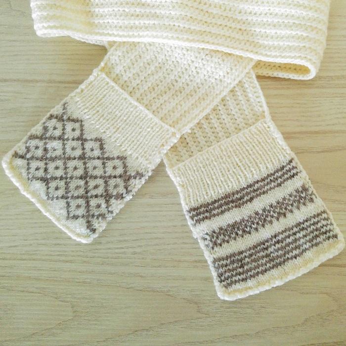 Écharpe à poches tricot et crochet - Hello c'est Marine - Chat tricote par ici