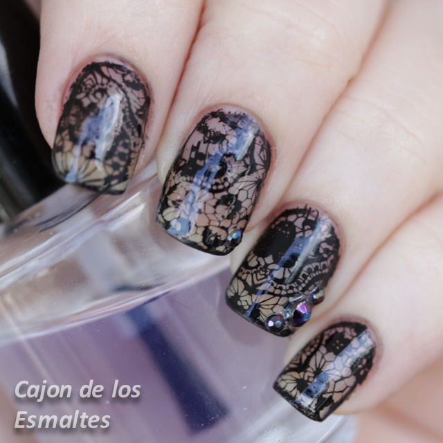 uñas decoradas 2014 born pretty stamping plates with mundo de unas black
