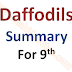 "Summary of the Poem ""Daffodils"" by William Wordsworth"