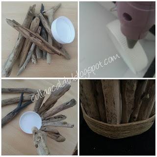 Tutorial Vaso legno fai da te riciclo creativo