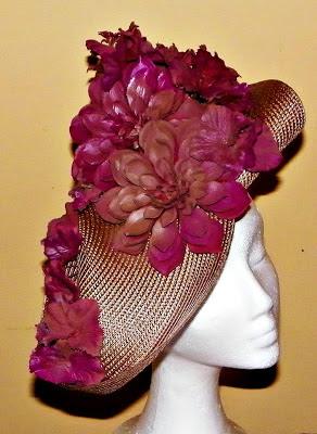 Pamela marrones y morados flores