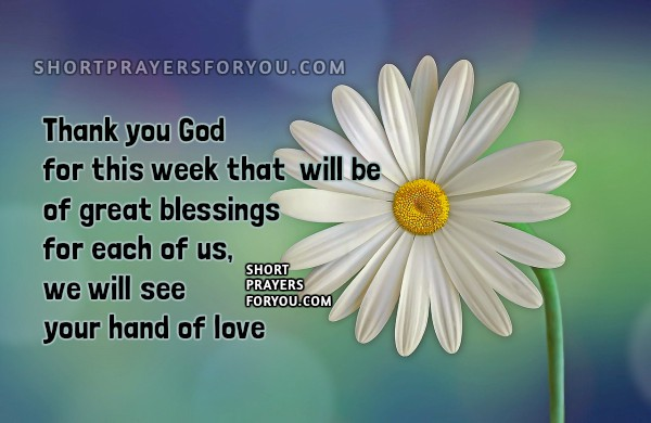 New Week, Morning Short Prayer, free christian prayer for monday, nice prayer quotes with christian image. Mery Bracho.