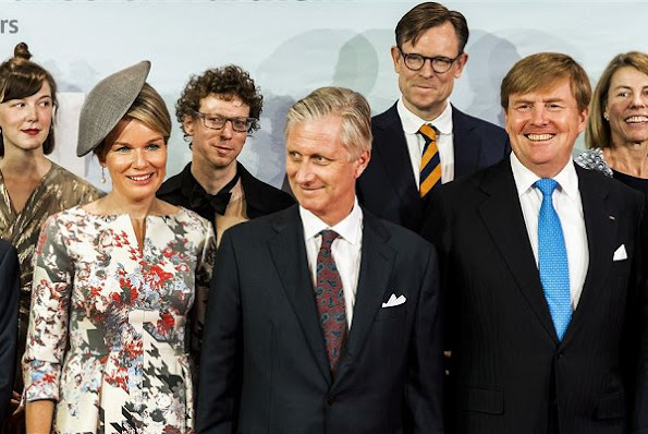 Queen Mathilde of Belgium and King Philippe and King Willem Alexander visited Frankfurt, Germany, for the opening day of 'Frankfurter Buchmesse' book fair. Belgian Royals and Dutch Royals at the Frankfurter Buchmesse