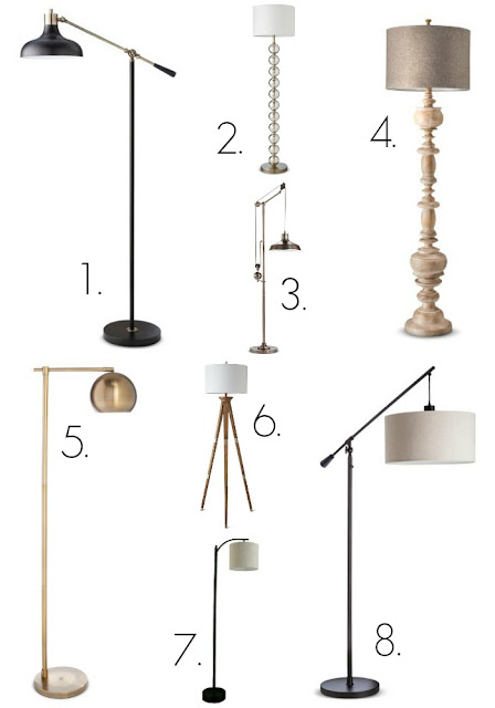 Floor lamps from Target