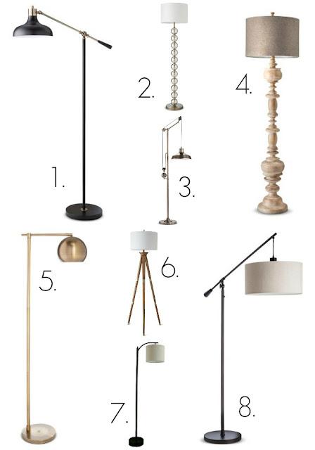 Floor lamps from Target