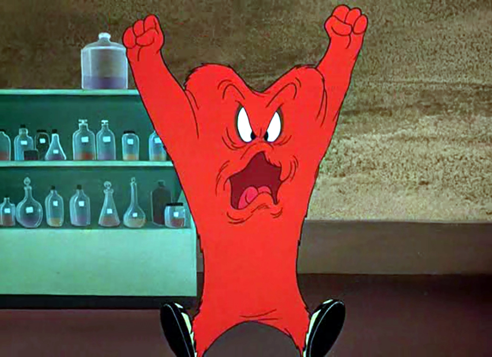 Red Monster Loony Toons