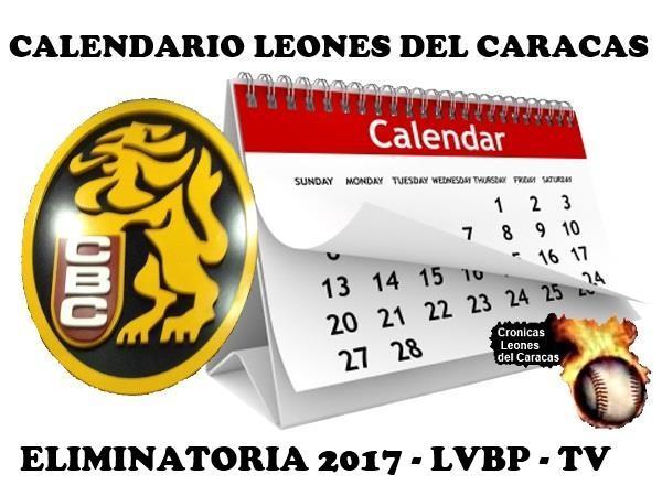 CALENDARIO TV LVBP 2017