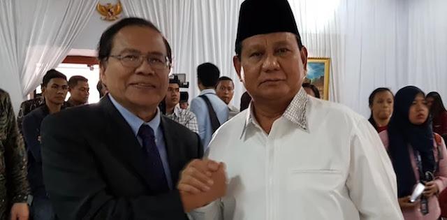 Prabowo-Sandi Tetap Rangkul Rizal Ramli Meski Memilih Independen