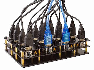 The Brando Industrial USB 16-Port Hub