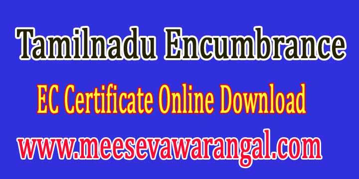 Tamil Nadu Encumbrance EC Land Records Document Search tnreginet.net Apply