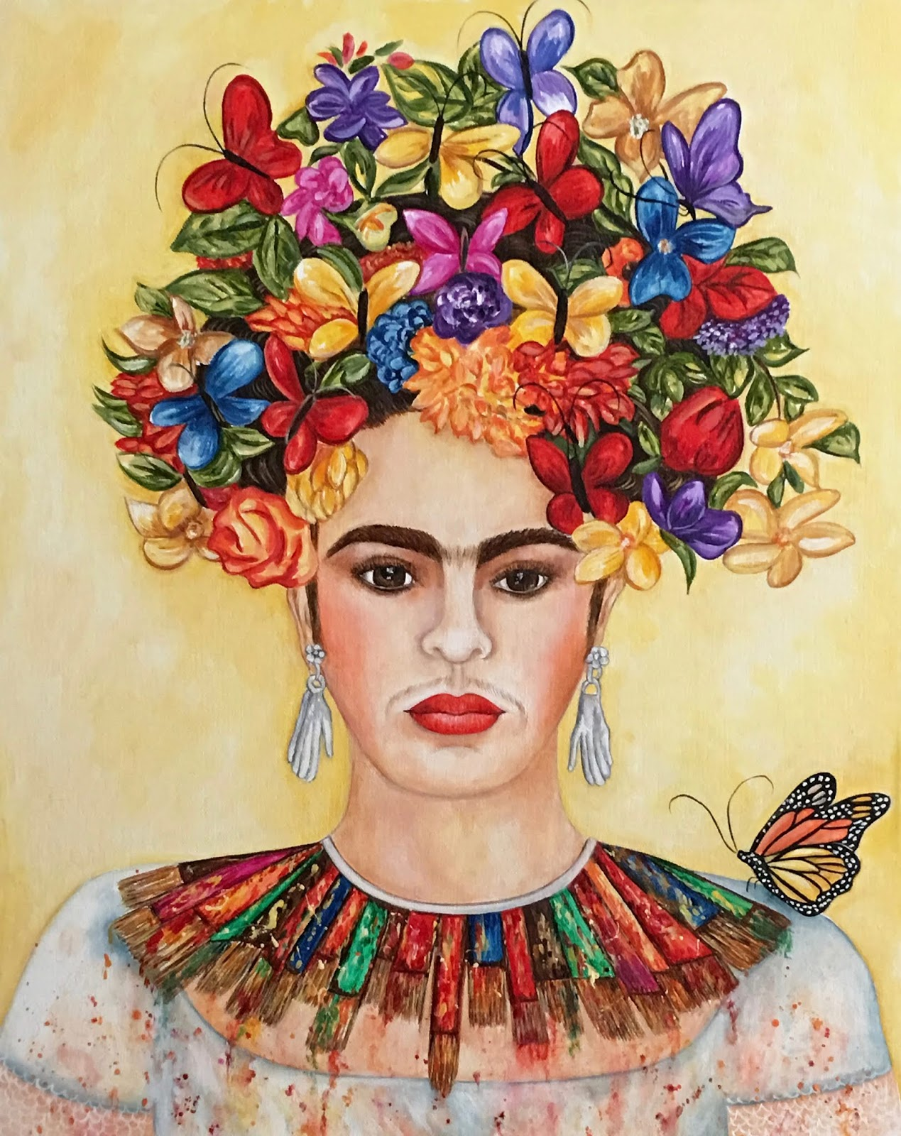 Painting My World Frida Kahlo By K Madison Moore