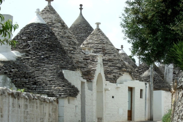 Trulli homes in Puglia, Italy