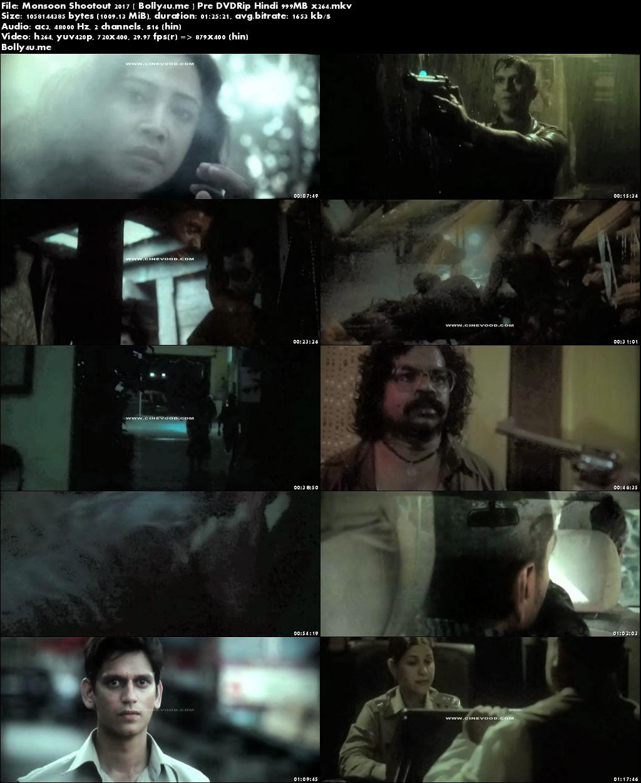 Monsoon Shootout 2017 Pre DVDRip 250MB Hindi Movie 480p Download