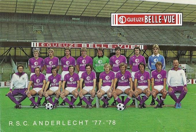 R.S.C ANDERLECHT 1977-78.