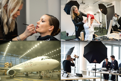 #BehindTheScenes : Michael Dürr for AUSTRIAN AIRLINES ( Making of - photos (c) by Lisa Jedletzberger & Eva Puella )