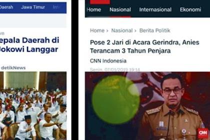 Deklarasi 10 Kepala Daerah Dukung Jokowi Langgar UU Pemda Cuma Ditegur Mendagri, Anies Salam 2 Jari Terancam 3 Tahun Penjara