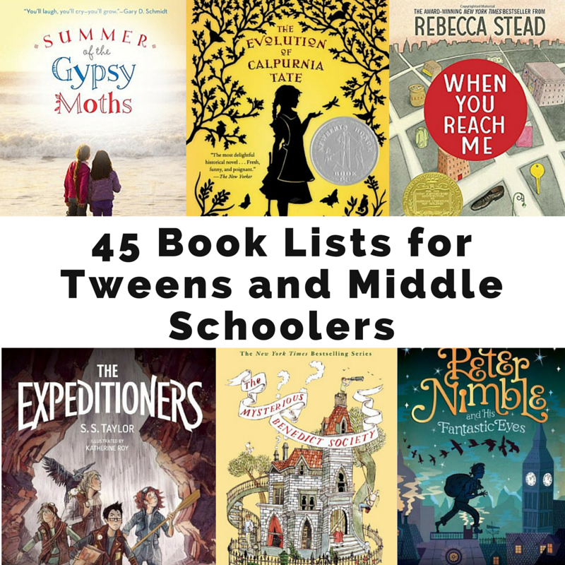 book lists for tweens