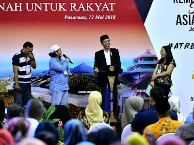 Presiden Jokowi Targetkan Tahun Ini 1,5 Juta Sertifikat Tanah Diberikan untuk Warga Jawa Timur - Info Presiden Jokowi Dan Pemerintah