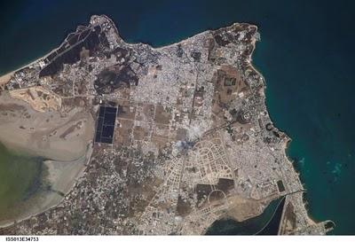Resultado de imagen de Vista física de la antigua Cartago, en el actual Túnez (NASA)