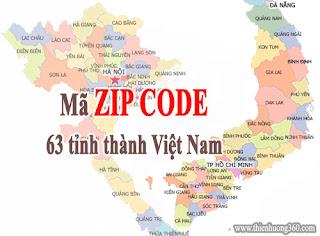 Mã Zip code của 63 tỉnh thành Việt Nam năm 2018