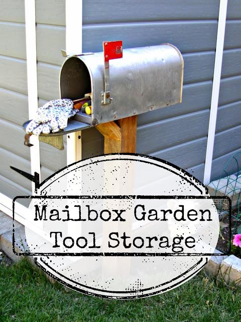 mailbox garden tool storage